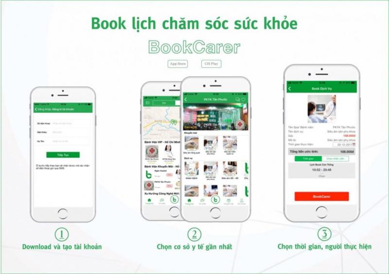Ứng dụng đặt lịch hẹn: Bookcare