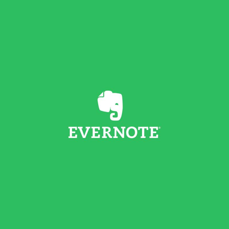 Giao diện của Evernote.