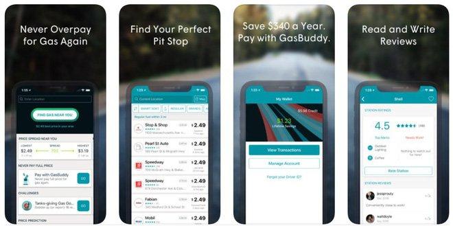 Ứng dụng Gasbuddy cung cấp nhiều thông tin hữu ích