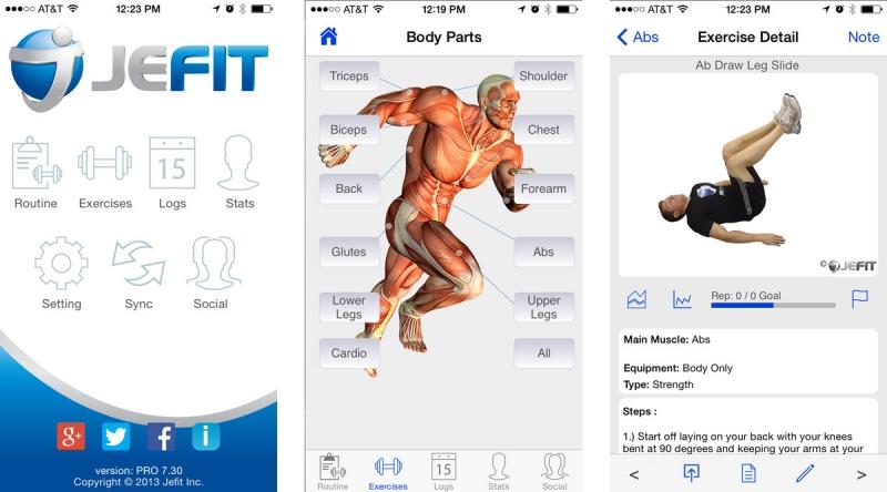 Ứng dụng dành riêng cho hoạt động tập luyện trong phòng gym
