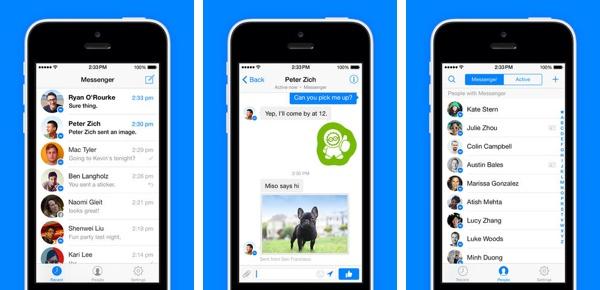 Ứng dụng Messenger trên iPhone