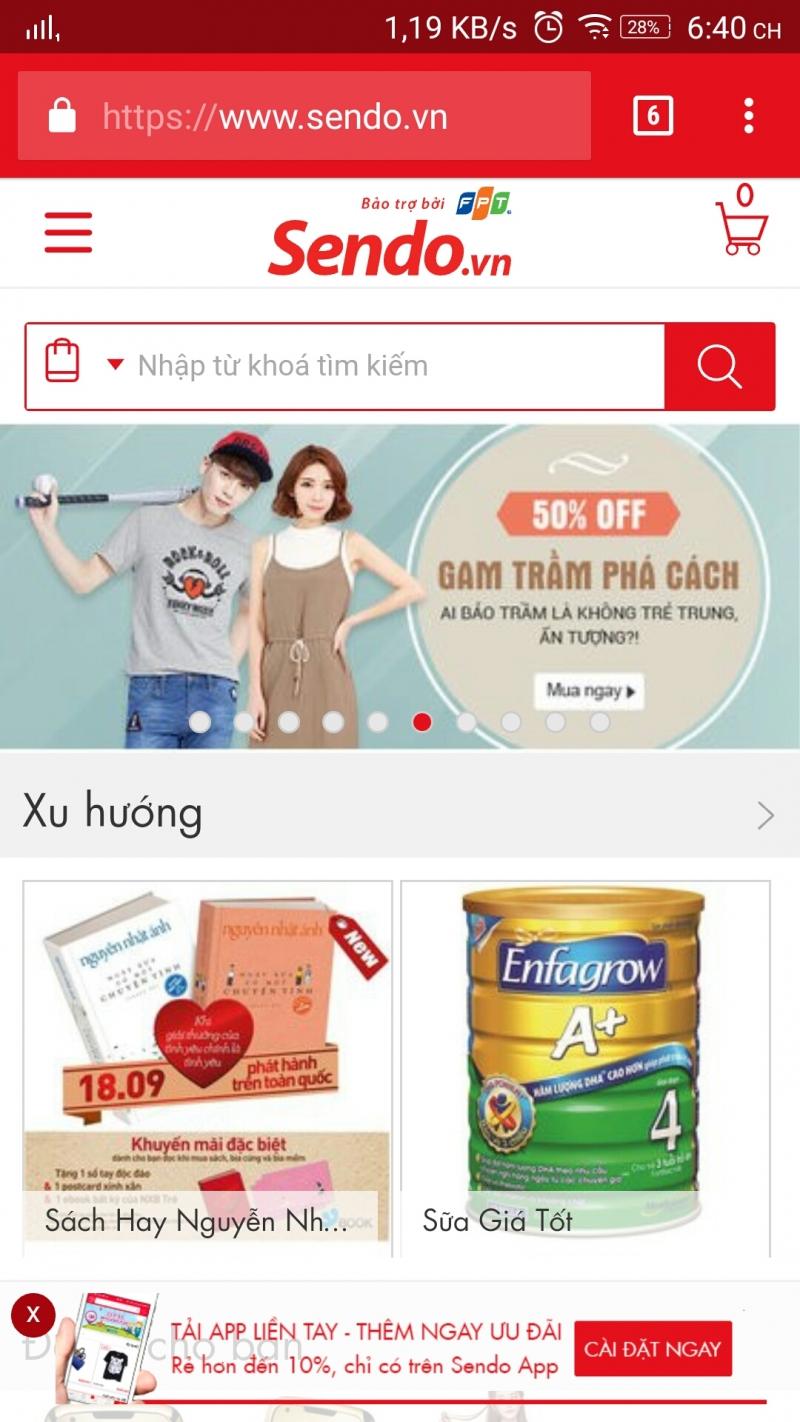Ứng dụng mua sắm online