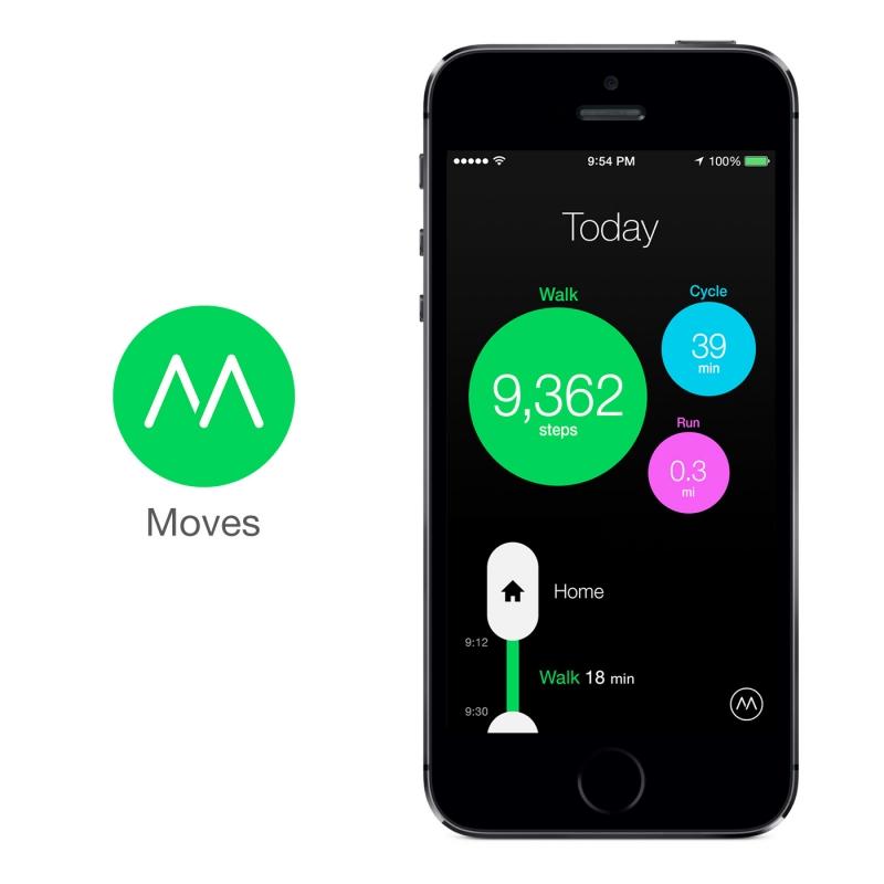 Ứng dụng Moves trên hệ điều hành IOS