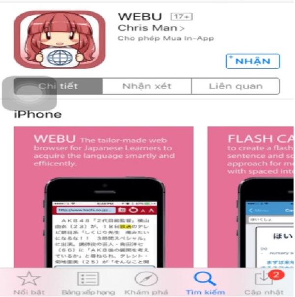 Ứng dụng WEBU