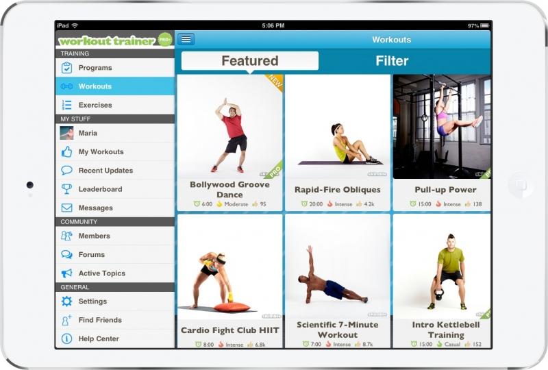 Bài tập sinh động được thiết kế bởi các chuyên gia thể dục hàng đầu