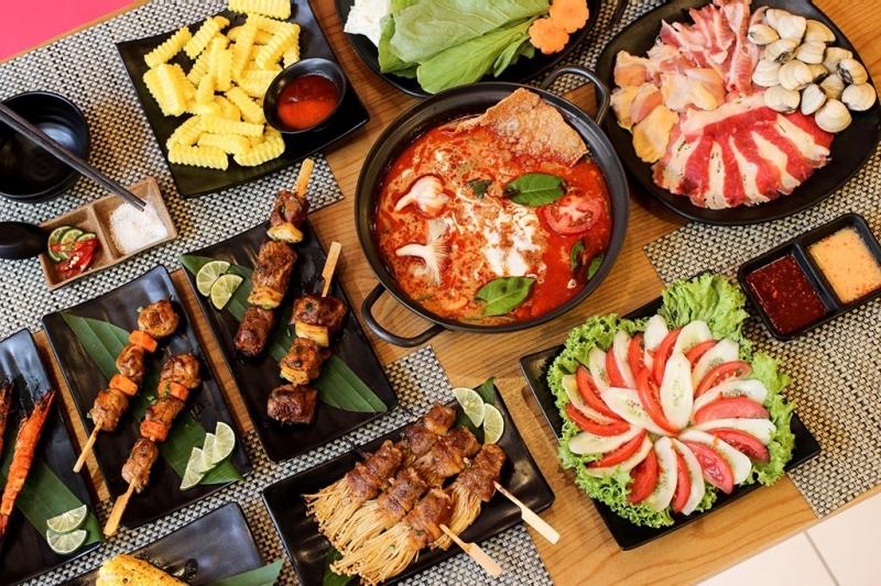 Các món ăn tại Uni BBQ vô cùng đa dạng và phong phú với những hương vị khó cưỡng