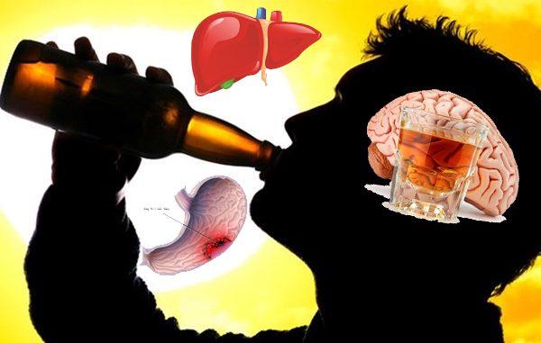 Uống nhiều rượu bia chính là kẻ thù gây hại cho toàn cơ thể, đặc biệt là sức khỏe lá gan