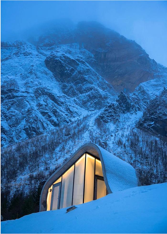 Đây là vị trí tuyệt vời để tận hưởng Bắc Cực quang