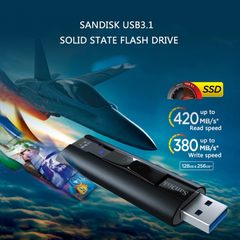 USB 3.2 SanDisk Extreme PRO CZ880 Solid State Flash Drive