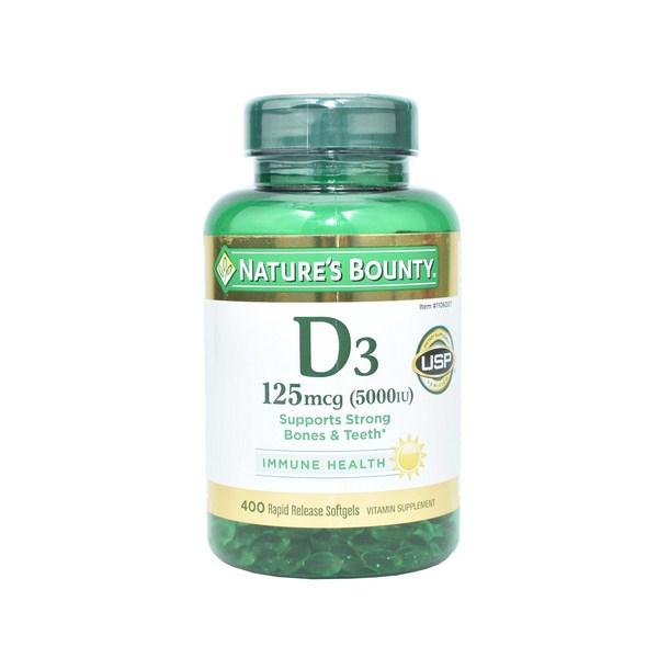 Viên Uống Bổ Sung Vitamin D3 5000IU Nature's Bounty