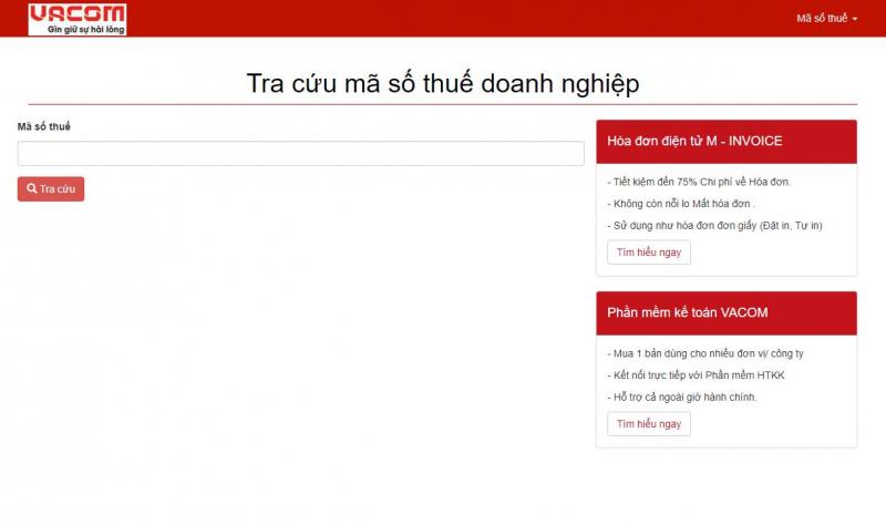 Trang web Vacon