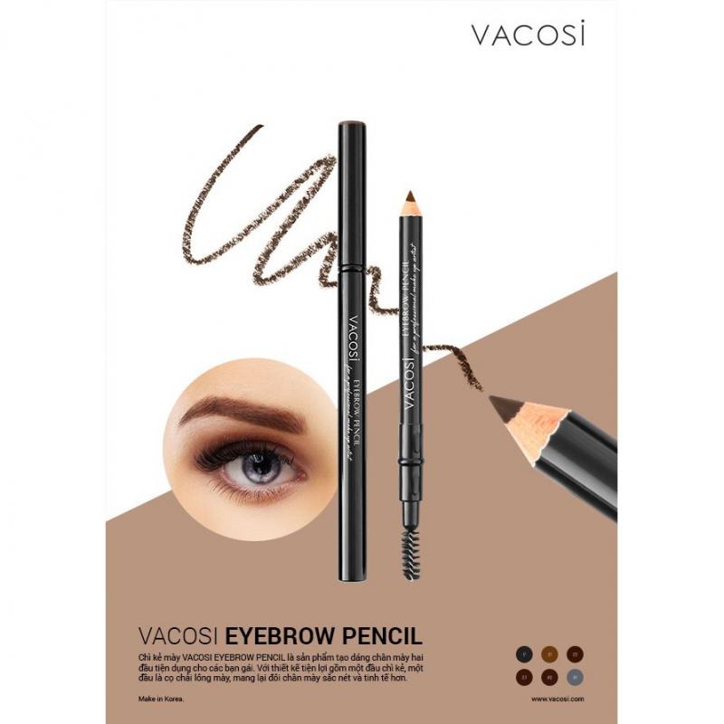 Vacosi Auto Eyebrow Pencil này lên màu tương đối chuẩn, bám lâu cực kỳ, giữ được độ sắc nét nhưng vẫn tự nhiên cho đôi lông mày của bạn.