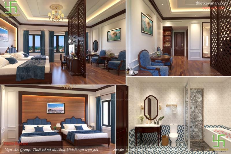 Nội thất phòng ngủ khách sạn theo phong cách cổ điển