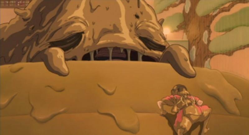 Vị thần bị ô nhiễm nặng với cơ thể bị biến dạng toàn bùn.