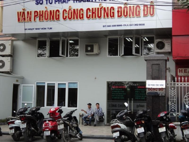Văn phòng công chứng Đông Đô nhìn từ phía ngoài