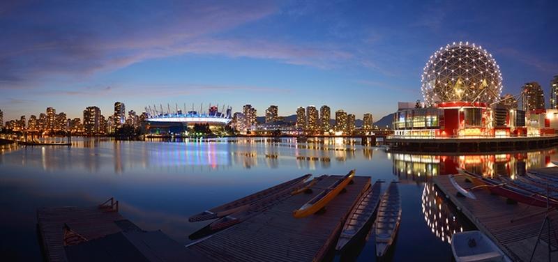 Một góc thành phố duyên hải Vancouver.