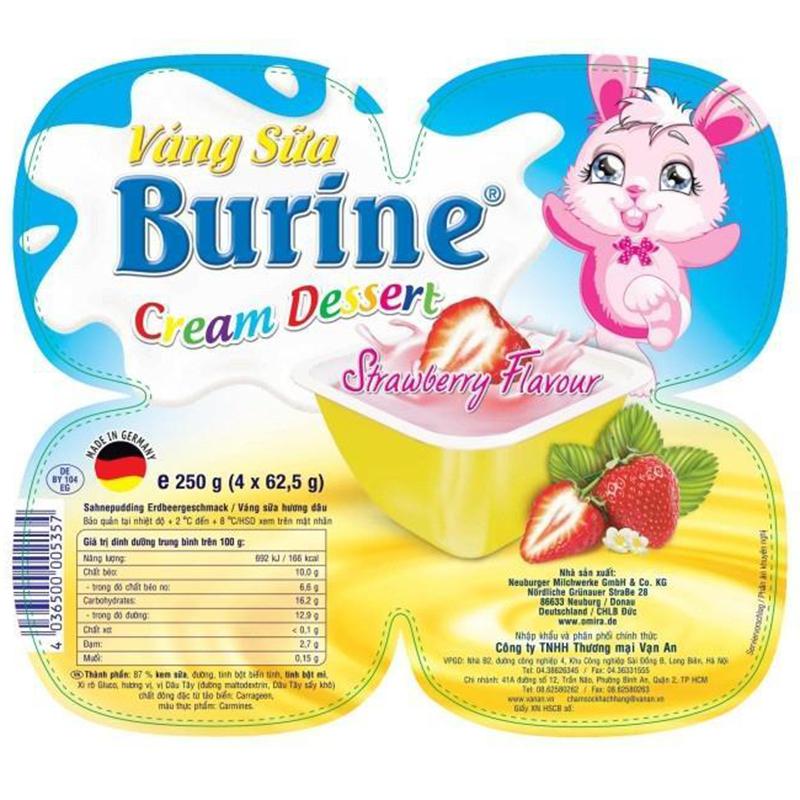 Váng sữa Burine có hàm lượng chất béo cao