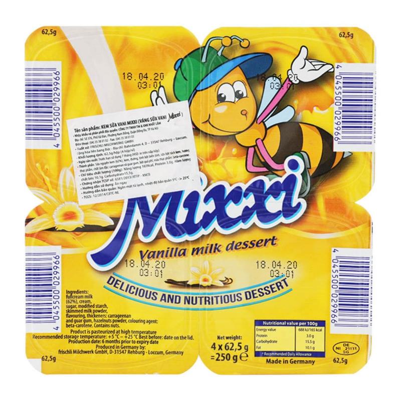 Váng sữa Mixxi rất tốt cho trẻ thiếu cân, suy dinh dưỡng, trẻ mới ốm dậy cần nhiều năng lượng