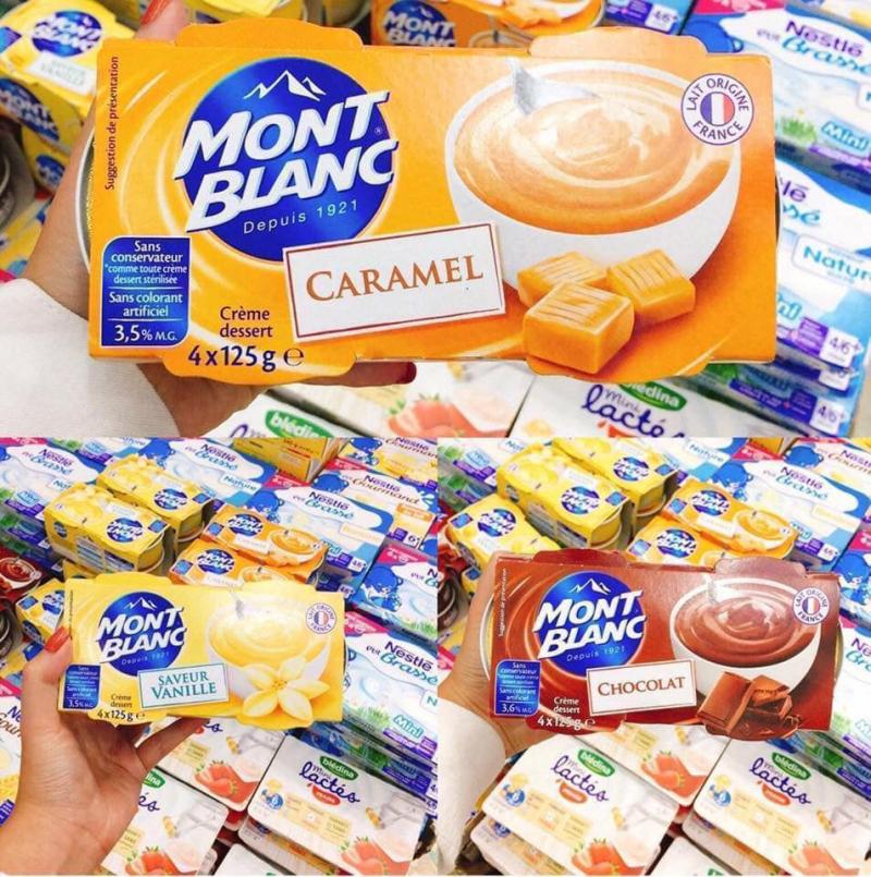 Váng sữa Mont Blanc vị caramen