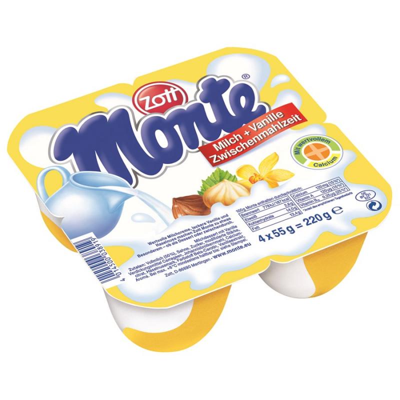 Váng sữa Monte có vị thơm, ngon, kích thích vị giác của các bé, giúp các bé ăn ngon hơn.