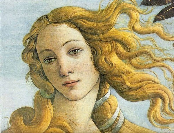 Vầng trán cao rộng được thể hiện trong những bức tranh vẽ thời xưa