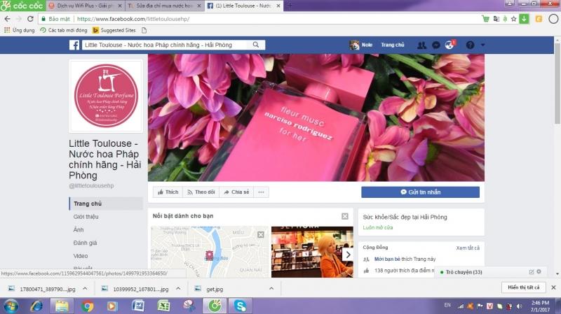Trang facebook của cửa hàng Little Toulouse.