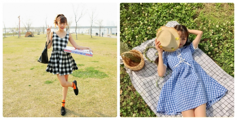 Với chiếc váy babydoll kẻ ca rô bạn sẽ trông thật nữ tính, trẻ trung mà không kém phần năng động thoải mái.