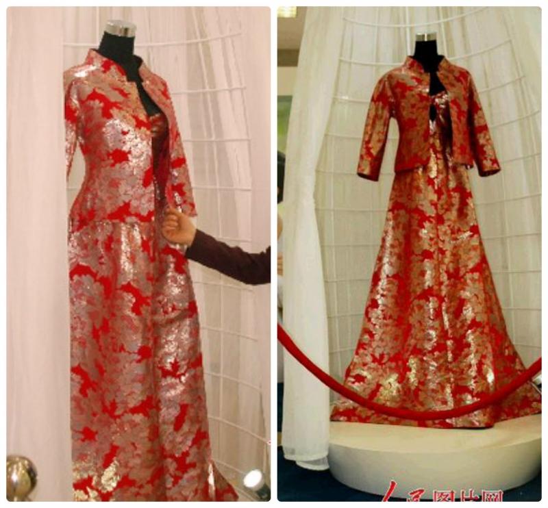 Váy cưới Platinum đỏ - 5,5 tỷ đồng
