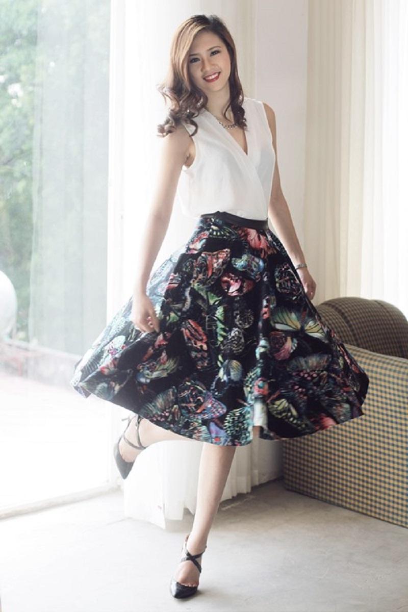 Chiếc váy xòe khiến bạn trông ngọt ngào và xinh xắn hơn