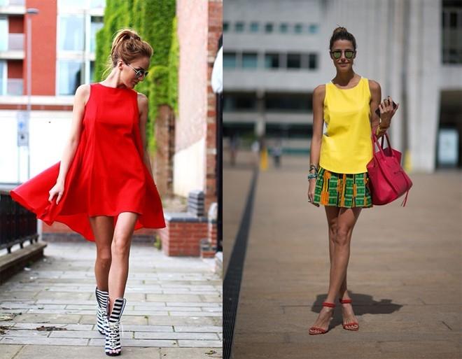 Những chiếc váy ngắn gợi cảm với màu sắc nổi bật mang đến một cái nhìn bắt mắt, tươi trẻ
