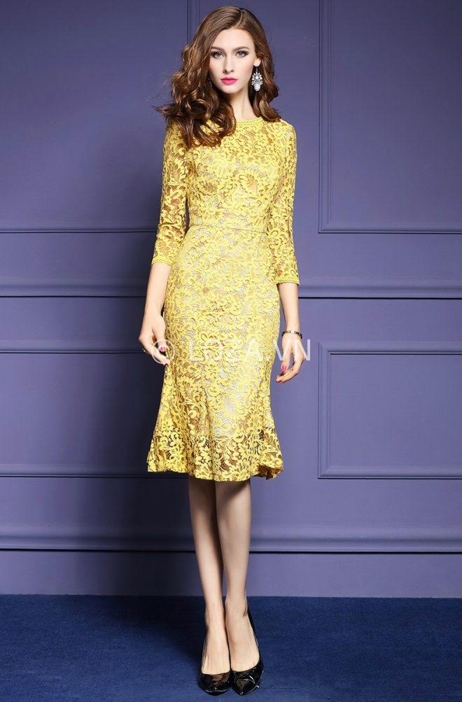 Váy ren tạo sự sang trọng đẳng cấp