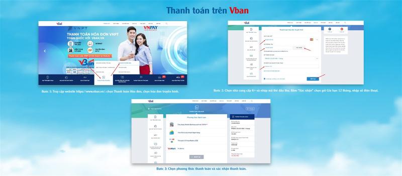 Đến với Vban.vn, bạn có thể thanh toán trực tuyến thông qua tài khoản ngân hàng hoặc ví điện tử VnMart