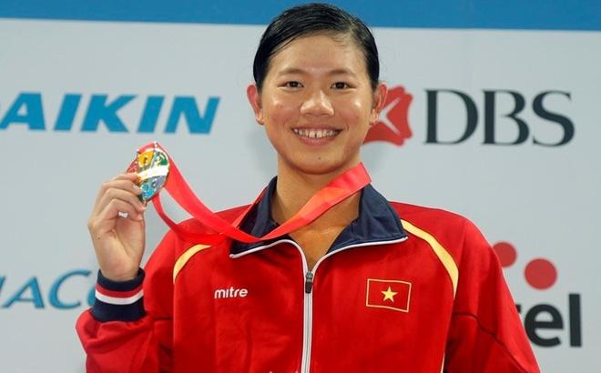 Tấm huy chương vàng đầu tiên tại giải vô địch bơi Châu Á của Việt Nam