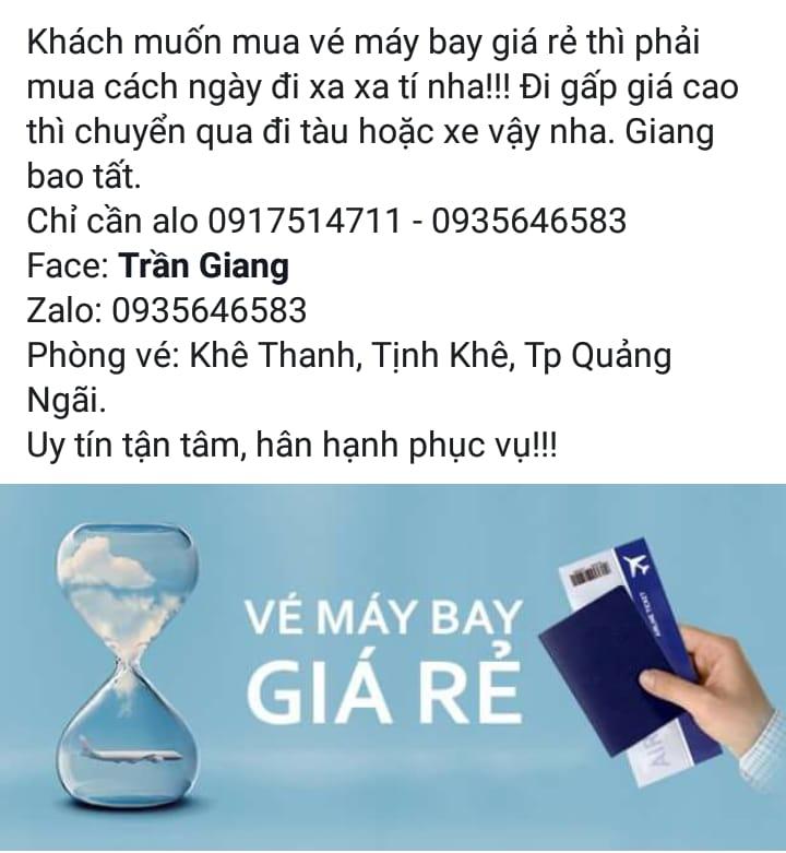 Vé Máy Bay Giang Trần