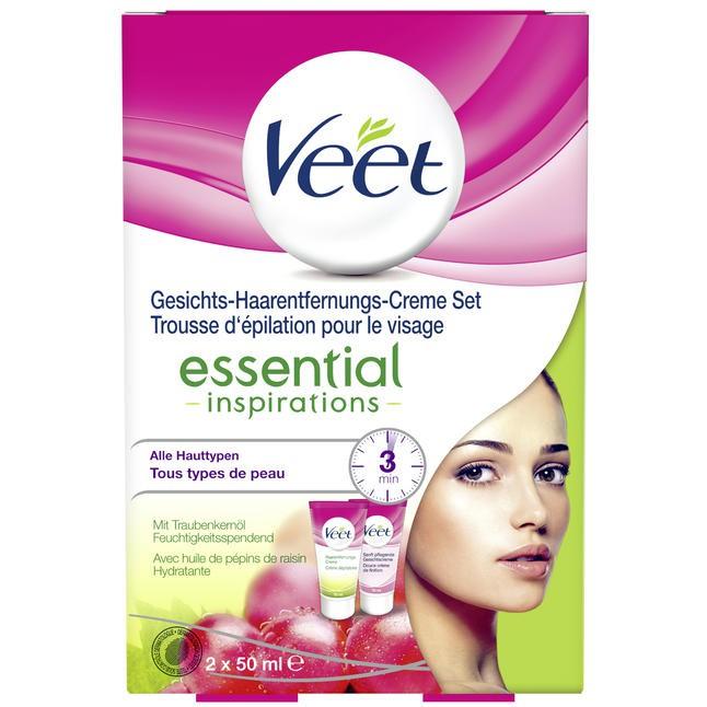 Veet Essential Inspirations - Bộ Kem Tẩy Lông Trên Khuôn Mặt