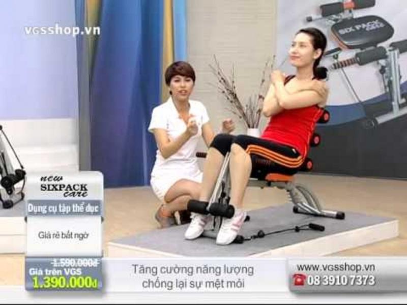 Máy tập thể dục đa năng New SIX PACK CARE được giới thiệu trên kênh bán hàng trực tuyến