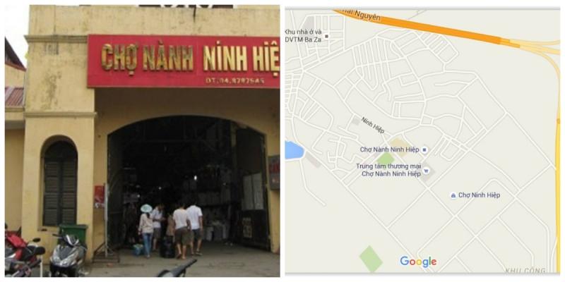 vị trí chợ Ninh Hiệp