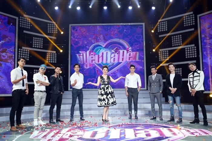 MC Lê Khánh cùng dàn mỹ nam của chương trình