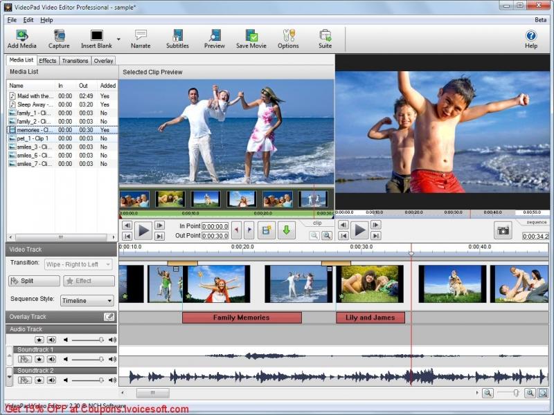 Đây cũng là một phần mềm thích hợp để xử lí video một cách dễ dàng.