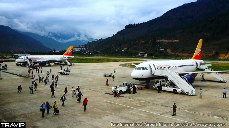 Bhutan chỉ có duy nhất một sân bay quốc tế.