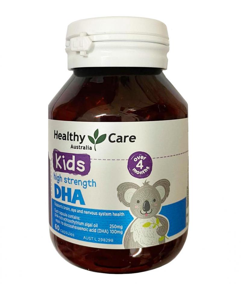 Viên Bổ Sung DHA Healthy Care Cho Trẻ Từ 4 Tháng Tuổi Của Úc, 60 viên