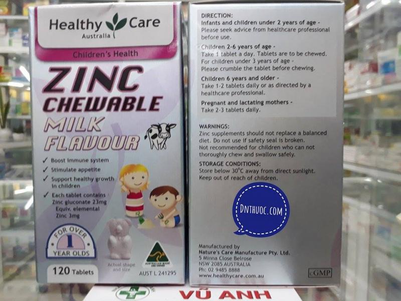 Viên uống bổ sung Kẽm Healthy Care ZinC