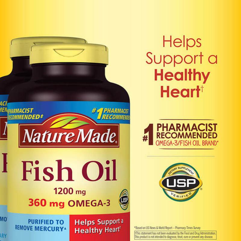 Viên dầu cá Nature Made Fish Oil 1200mg 200 viên