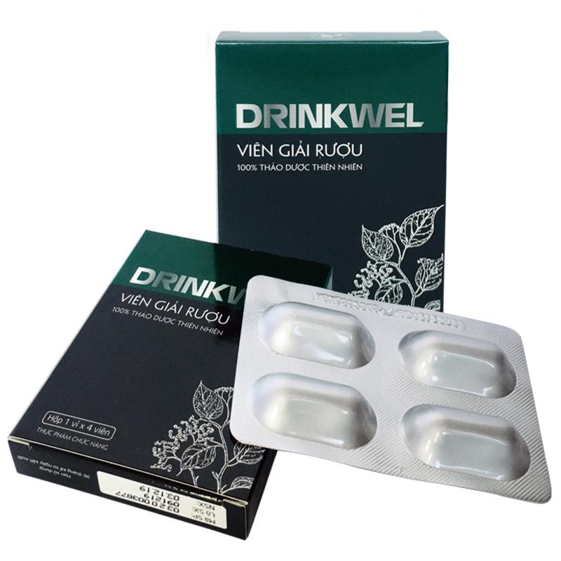 Viên giải rượu, giải độc gan, mát gan, giảm tình trạng khô khát khi say, thanh nhiệt, tăng cường chức năng gan Drinkwel