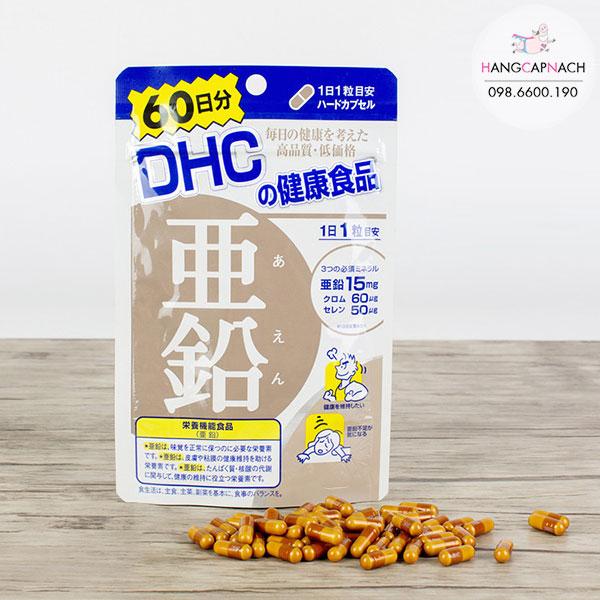 . Viên kẽm của DHC Nhật Bản tổng hợp chất kẽm trong tự nhiên. Giúp chúng ta bổ sung lượng kẽm cần thiết cho cơ thể mà chế độ dinh dưỡng hằng ngày chưa đủ bù đắp