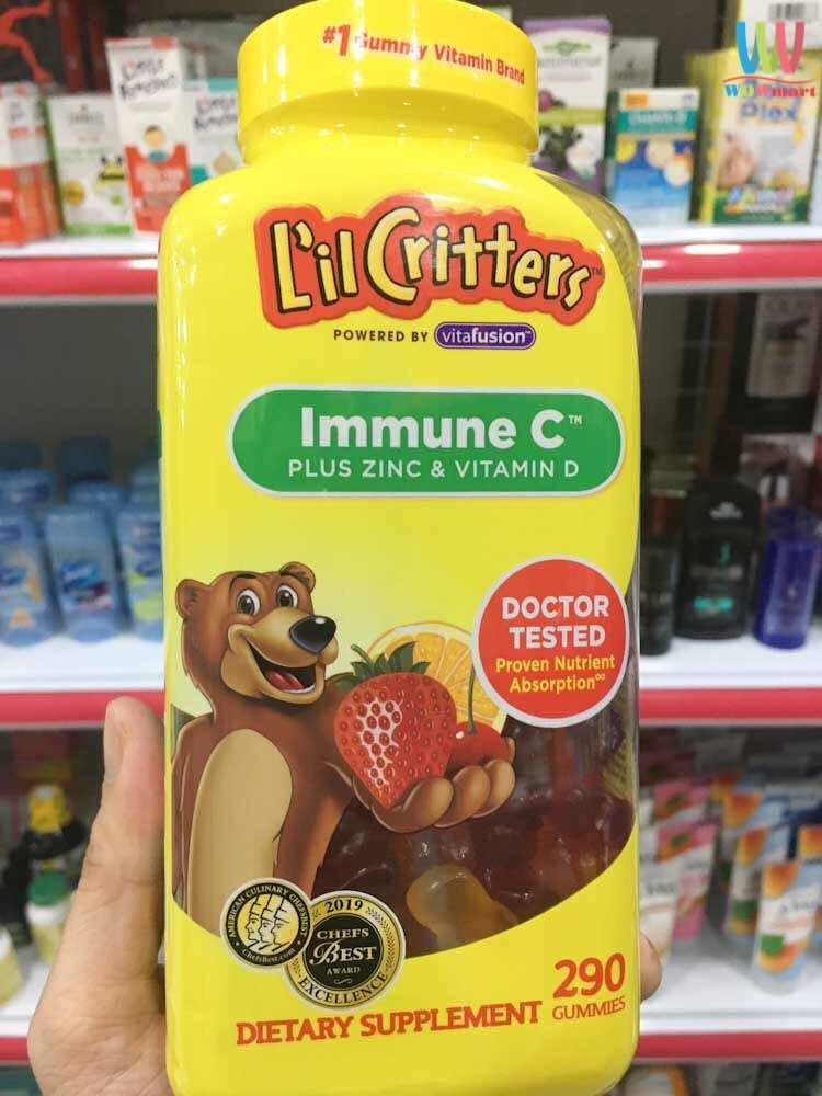 Viên kẹo dẻo Immune C™ Plus Zinc and Vitamin D cho trẻ
