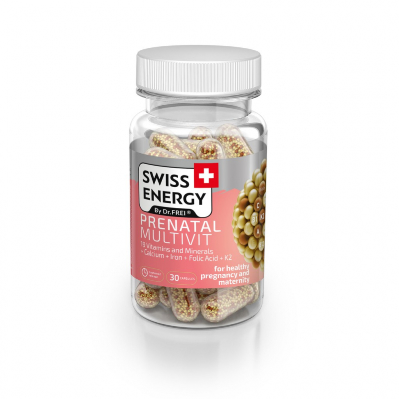 Viên Nang Bổ Sung Vitamin Cho Phụ Nữ Mang Thai Và Cho Con Bú - Swiss Energy Prenatal Multivit