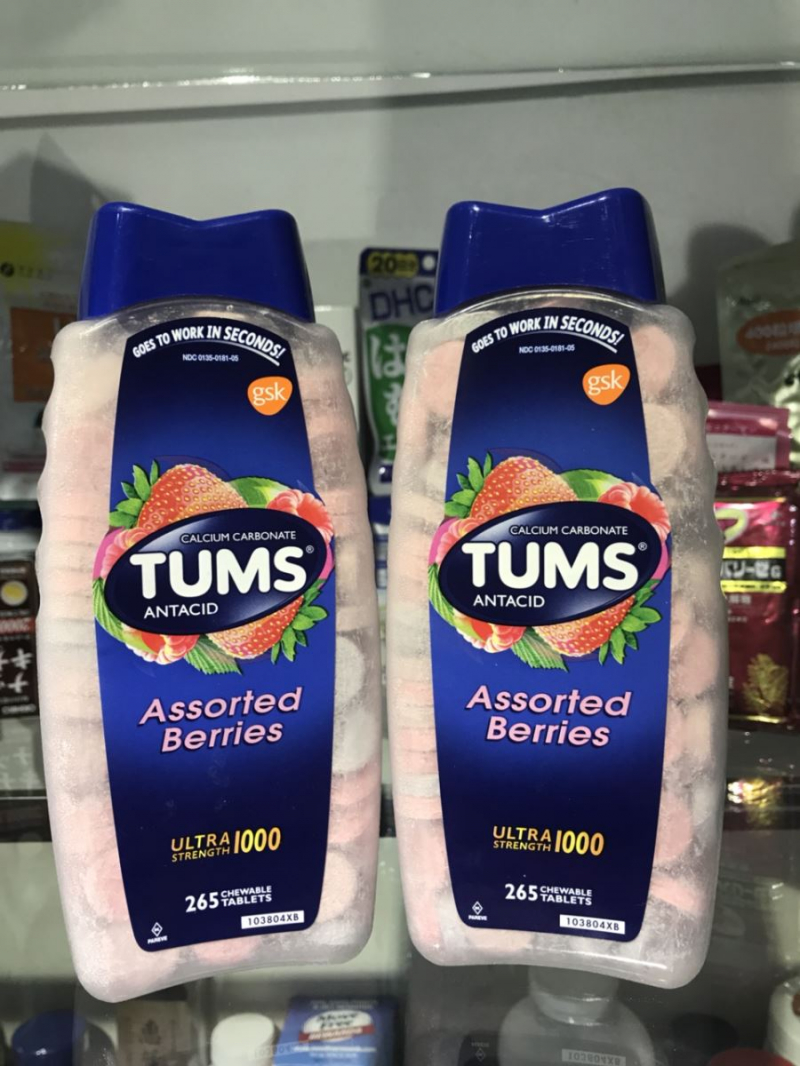 Viên nhai điều trị đau dạ dày Tums