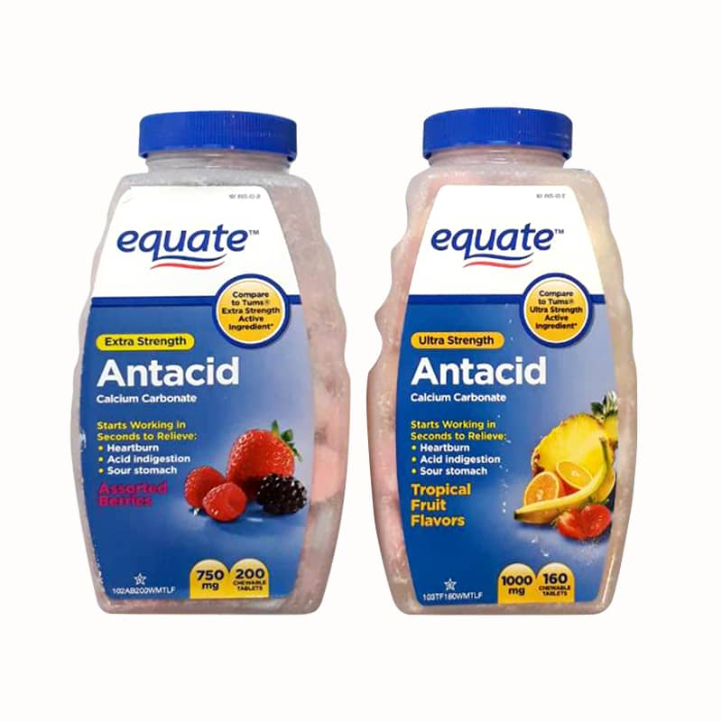 Thực phẩm chức năng Viên nhai hỗ trợ dạ dày Equate Ultra Strength Antacid 1000mg