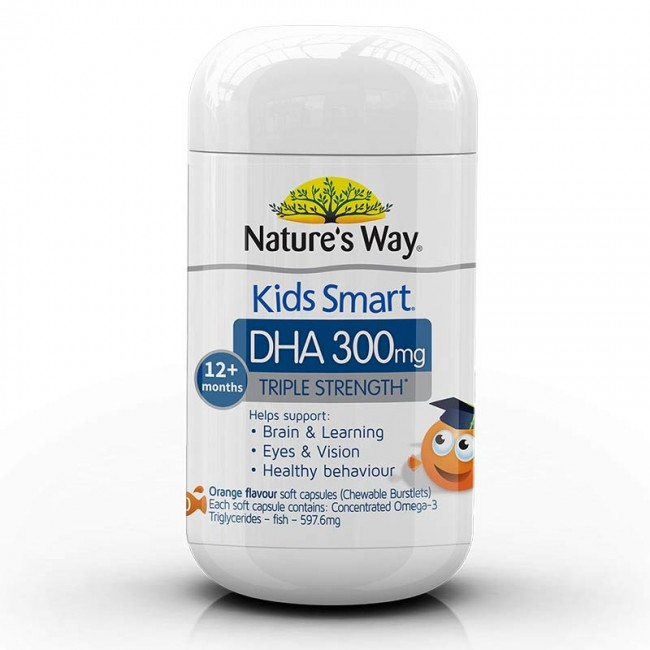 Viên nhai Natures Way Kids Smart DHA 300mg Triple Strength